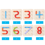Wooden Cognition Deformed  - Composition of Numbers Letters and shapes