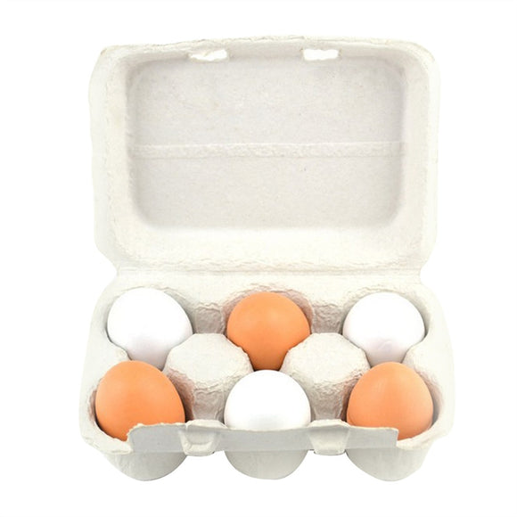 6pcs Easter Wooden Simulation Eggs Assembling