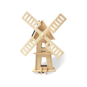 Solar Powered Wind Mill Mechanical 3D Models Puzzles DIY Toy Assembly
