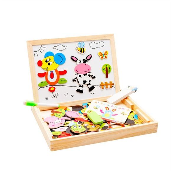 Magnetic Wooden Art Easel Animals Puzzles (12 Zodiac)