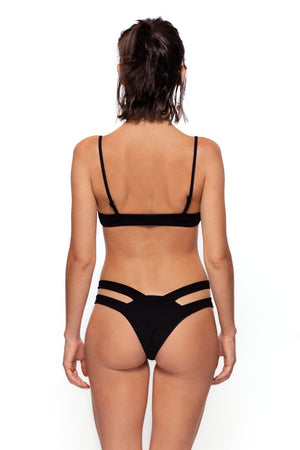Dacil Bottom (Black Ribbed)