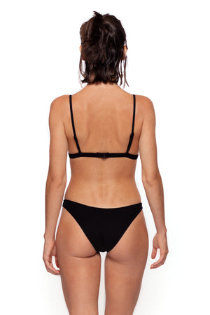Julieta Bottom (Black Ribbed)