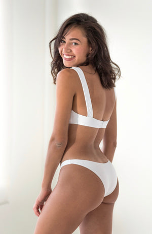 Julieta Bottom (White Ribbed)