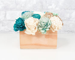 Simple Centerpiece - Mint/White