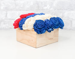 Simple Centerpiece - Red/White/Blue
