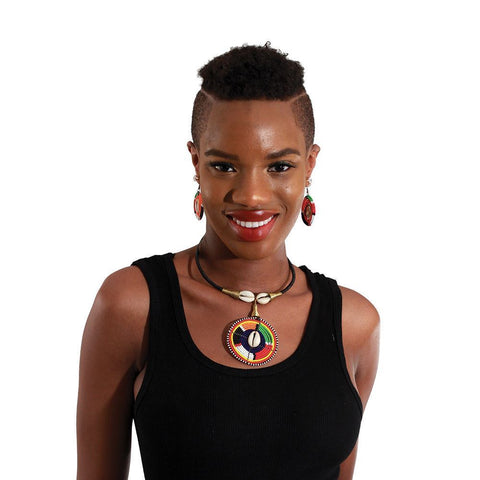 Maasai Necklace & Earrings