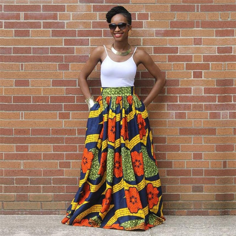 Maxi Tribal Print Skirt