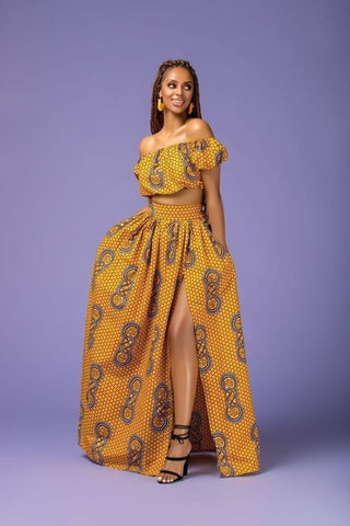 Two Piece Ankara Top and Skirt