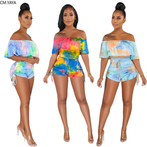 Butterfly Sleeve Short Jumpsuit