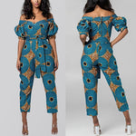 Blazing Red Ankara Jumpsuit