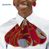 African Print Ankara Tie and Earring