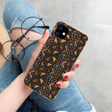 African style fabric print case for iPhones
