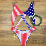 USA Flag One Piece Swimsuit