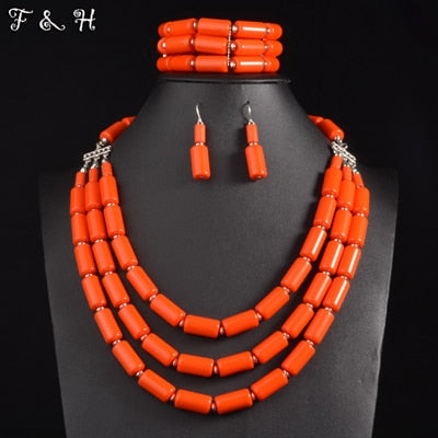 Nigerian Wedding Beads Necklace Set