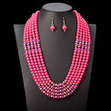 African Beads Jewelry Set Necklace & Pendant.