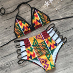 Backless High Waist  Kente Bikini