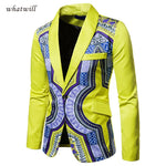 Dashiki Print Suit Jacket