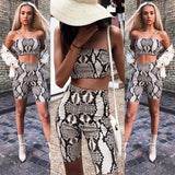 Snakeskin Bodycon Two Piece Jumpsuit