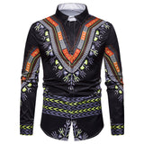 Long Sleeve African Dashiki Dress Shirt