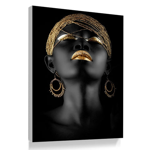 Black Woman African Art Canvas Painting