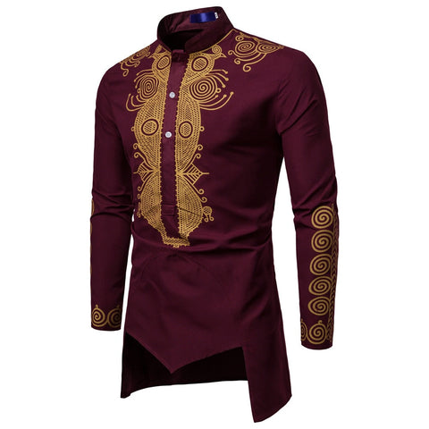 African Embroidered Long Sleeve Shirt