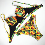 High Cut Kente Swimsuit