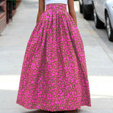 Maxi Floral Print High Waist Long Skirt