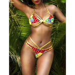 Gold Coast Kente Print Two-Piece Bikini