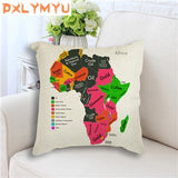 Decorative African Map Pillowcase