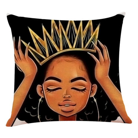 Black Girl Magic Decorative Pillowcase