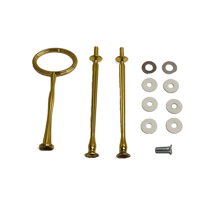 Plate Stand Hardware (2-3 tier) - Gold Oval