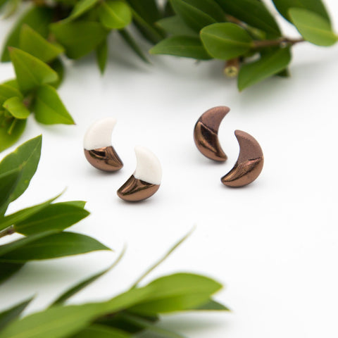 Bronze Moon Earrings