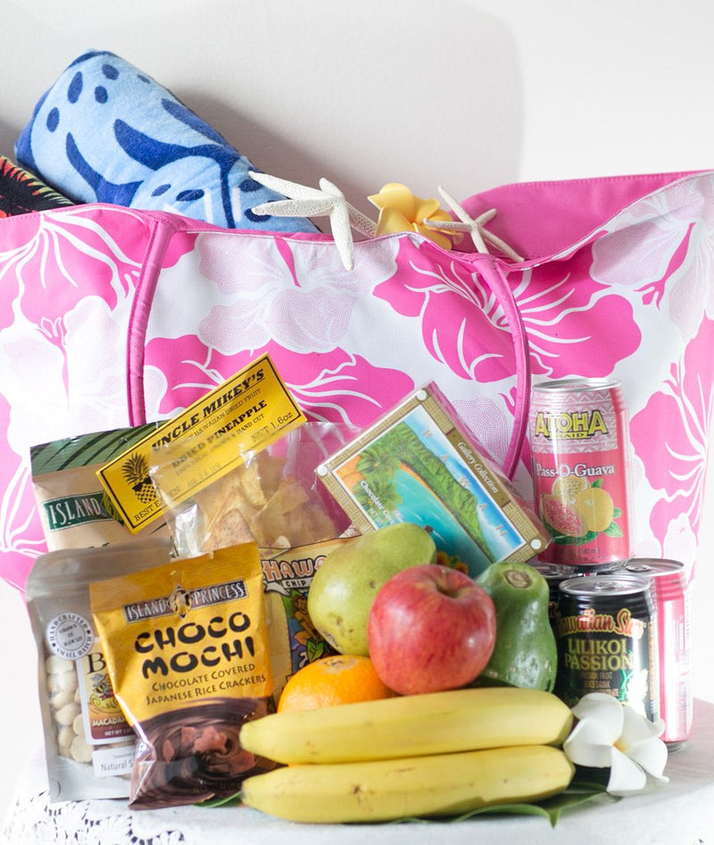 Hibiscus Beach Bag w/ Fresh Fruit