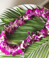 Tropical Single Lei (Purple)