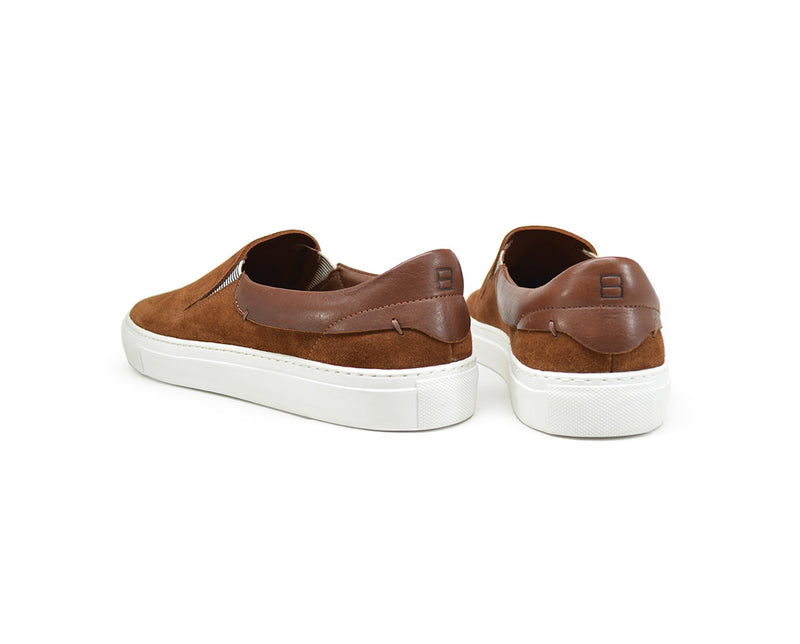 brown suede slip on sneakers mens
