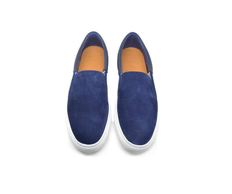 Leather slip on sneakers unisex