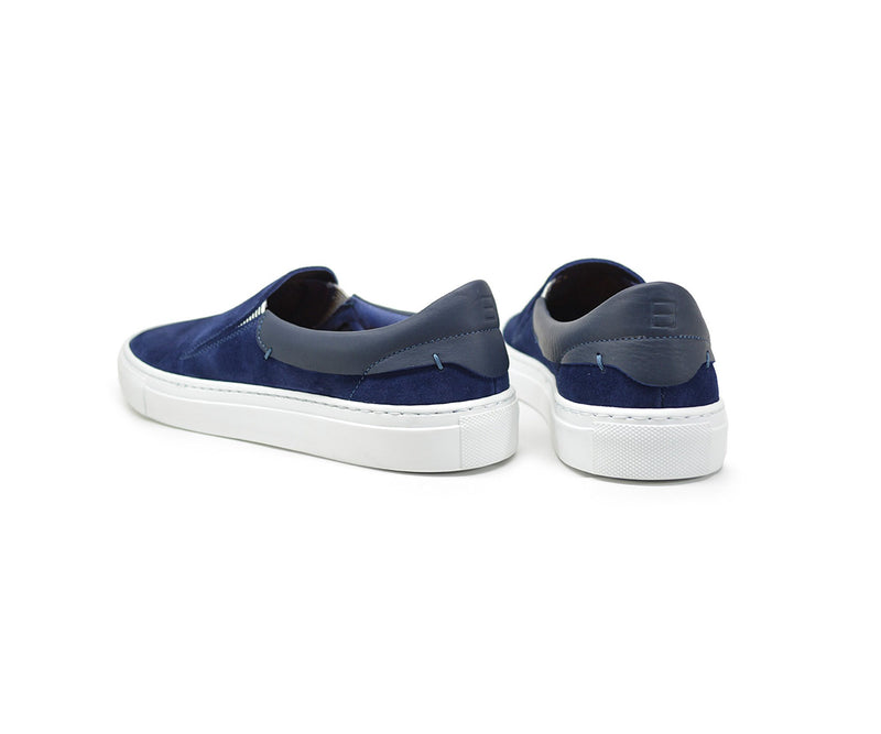 Leather slip on sneakers for women