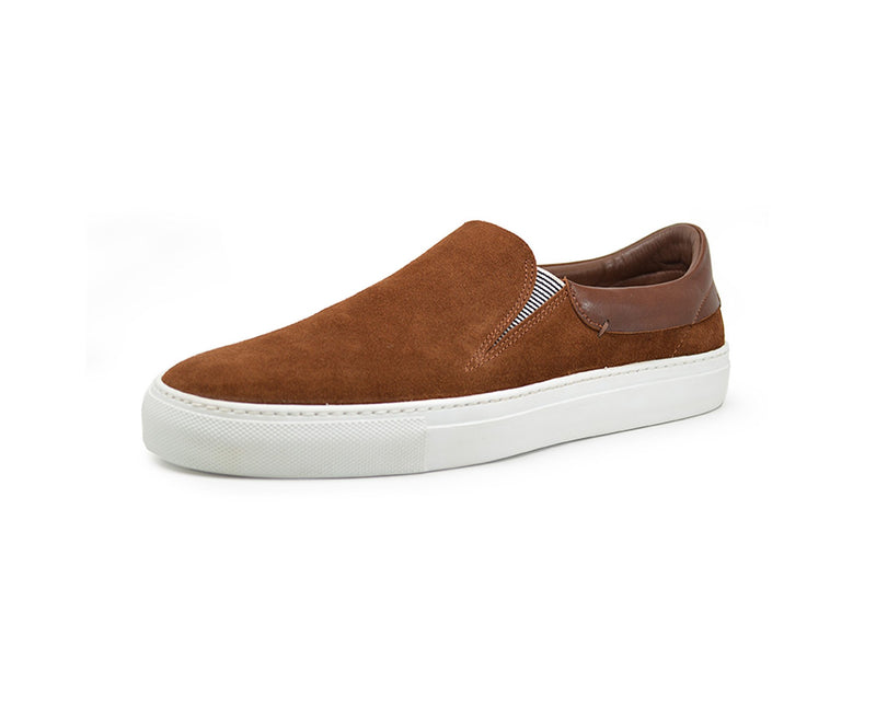 brown suede slip on sneakers