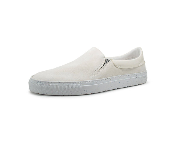 Leather slip on sneakers for men