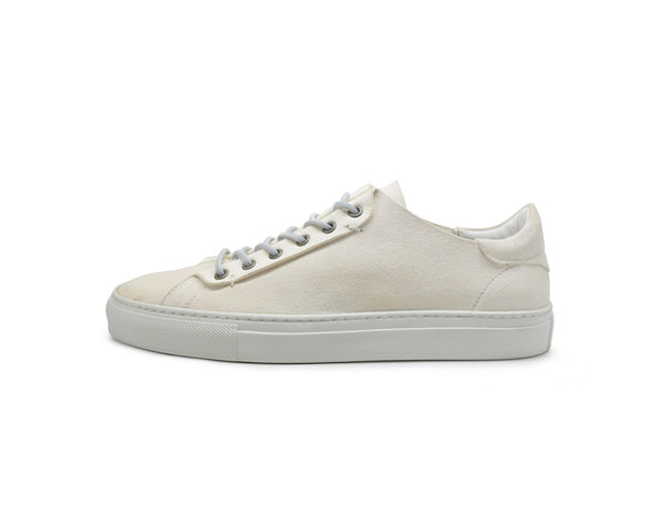 Unisex white suede dress sneakers