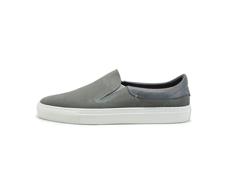 Leather slip on sneakers mens