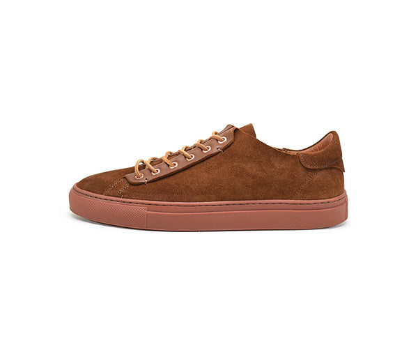 Unisex brown suede dress sneakers