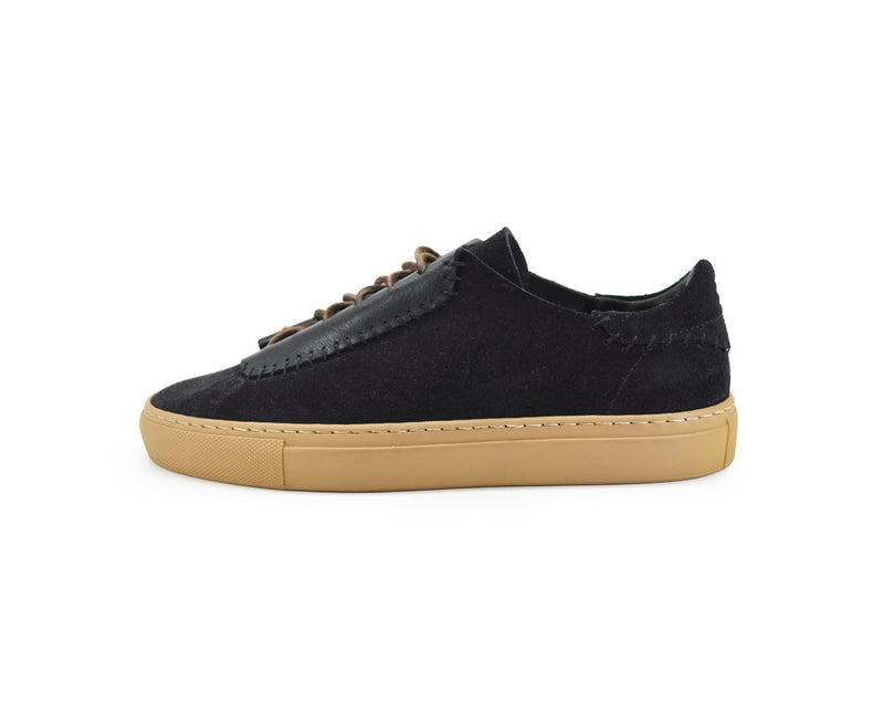 Womens black suede sneakers