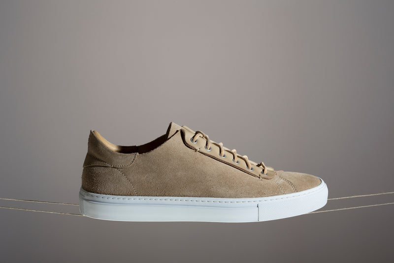 Unisex leather low top sneakers handmade in Portugal