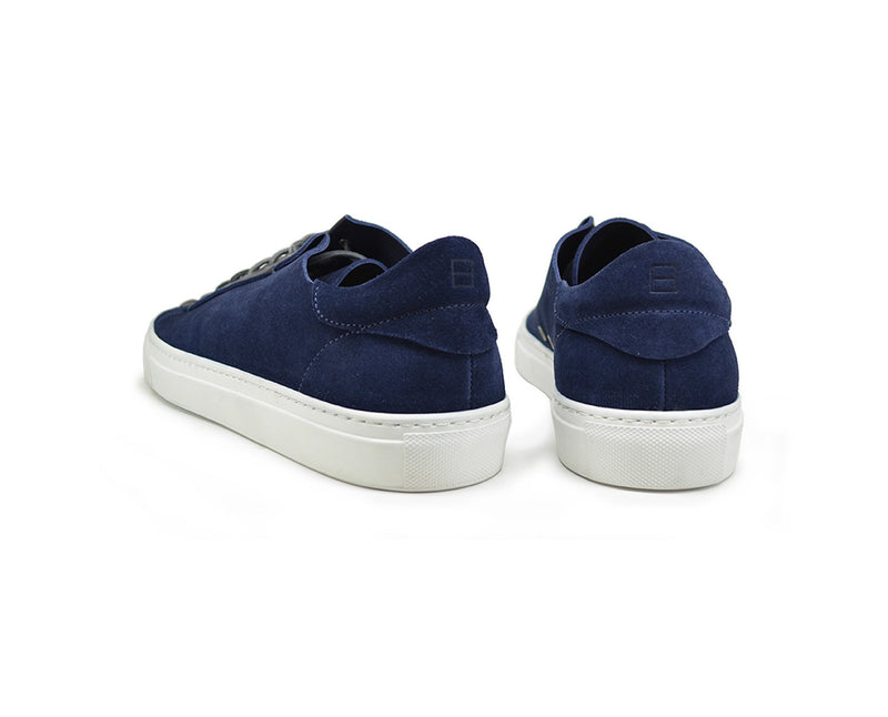 Unisex blue suede dress sneakers