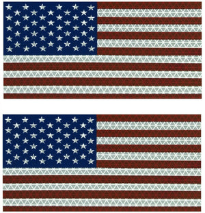 "Orafol American Flags - Retro-Reflective Tape 3-3/4"" x 6-1/2"" - Made in USA (2)"