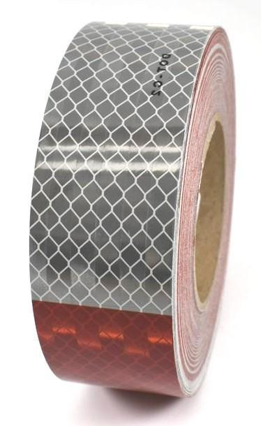 "3M Reflective Tape 6"" Red/6"" White Pattern 2"" x 150' Roll DOT (22497)"