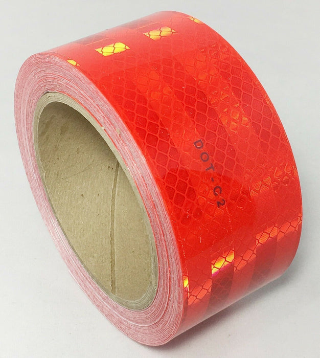 "3M Red Reflective Tape - 983-72 Series - 2"" x 30' Roll (67816)"