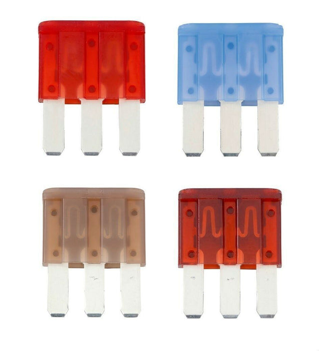 Flosser Three Blade Fuses- Micro 3 Type: 1 ea. 5, 7.5, 10, 15 amp -Made in Japan