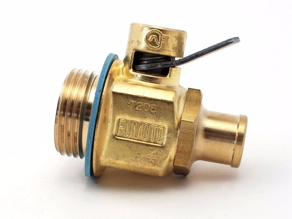 "Fumoto T205NS Quick Oil Drain Valve w/ Nipple for Caterpillar 1-1/8""-12UNF T205N"